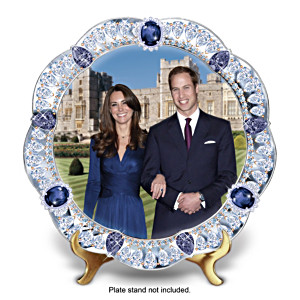 Kate Middleton And Prince William Engagement Collector Plate