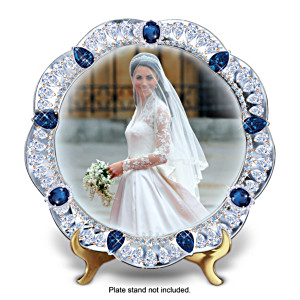 Kate Middleton, Royal Bride Jewelled Collector Plate