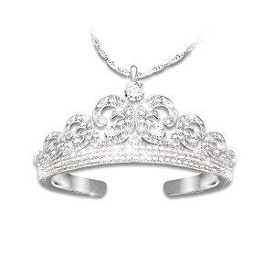 Royal Wedding Tiara Diamonesk Pendant Necklace