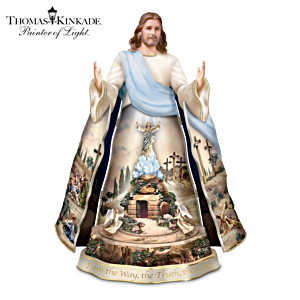 Thomas Kinkade Jesus Sculpture With Lights, Motion And Music