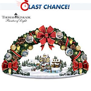 Thomas Kinkade Illuminated Wreath: Tabletop Or Wall Display