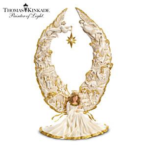 Angel Nativity Sculpture With Thomas Kinkade Narration