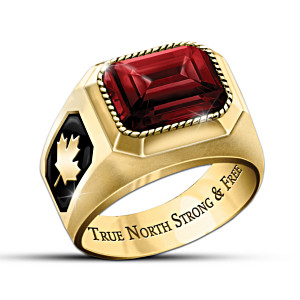 Canadian Pride Engraved Men's Ring