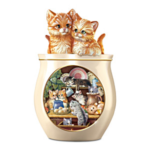 Jürgen Scholz Kitten Art Ceramic Cookie Jar