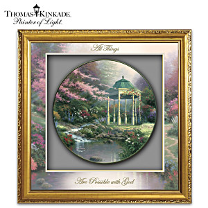 "Thomas Kinkade ""Visions Of Hope"" Shadowbox Wall Decor"