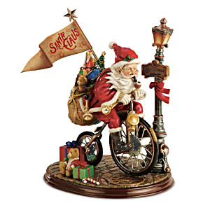 """Santa Claus Is Coming To Town"" Vintage-Style Figurine"