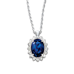 Kate Middleton Engagement Ring-Inspired Pendant Necklace