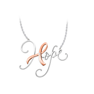 The Colour Of Hope Breast Cancer Awareness Diamond Necklace