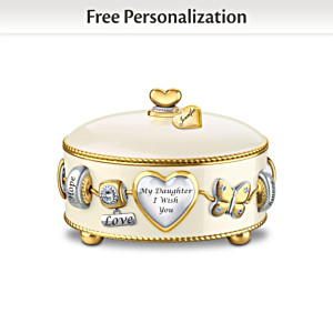 Personalized Charm-Inspired Music Box For Daughters
