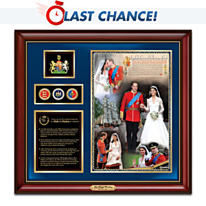 2011 Royal Wedding Commemorative Wall Décor