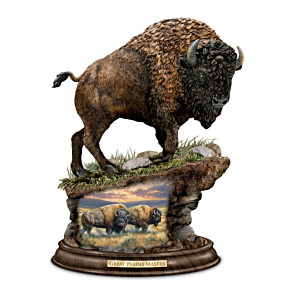 """Great Plains Master"" American Bison Art Sculpture"