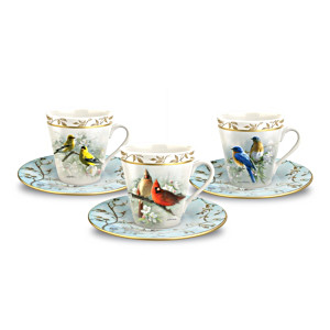 Hautman Brothers Bird Art Teacup & Saucer Set