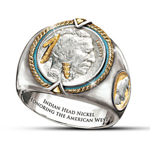 Indian Head Nickel Men's Sterling Silver Ring