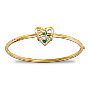 """Blessings Of Ireland"" Irish Pride Claddagh Women's Bracelet"
