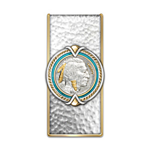 Money Clip With Indian Head Nickel Centrepiece