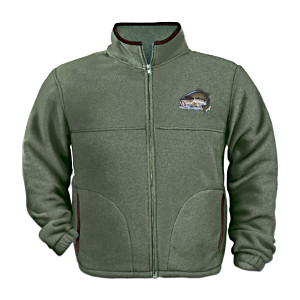 """Angler's Pride"" Men's Fleece Jacket By Al Agnew"