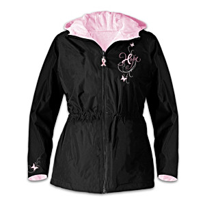 Women's Anorak Supports Breast Cancer Causes