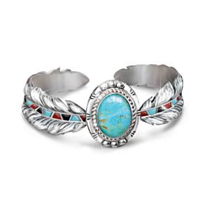 """Sedona Sky"" Turquoise Women's Cuff Bracelet"