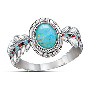 """Sedona Sky"" Sterling Silver And Turquoise Ring"