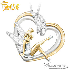 "Tinker Bell ""Embrace The Magic"" Diamonesk Pendant Necklace"