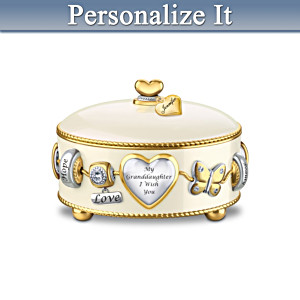 Personalized Charm-Inspired Music Box For Granddaughters