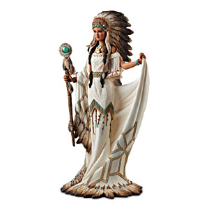 """Heart Of A Great Spirit"" Native American-style Sculpture"