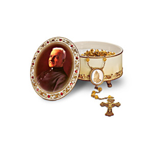 Saint Brother André Music Box With FREE Rosary And Card