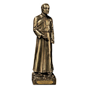 """St. Brother André"" Cold-Cast Bronze Sculpture"