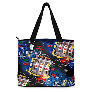 """Lady Luck"" Quilted Tote Bag With FREE Cosmetic Case"