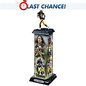 Pittsburgh Steelers Troy Polamalu Illuminating Sculpture