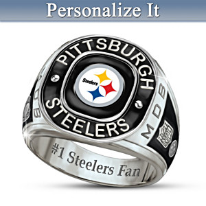 Pittsburgh Steelers Monogrammed Men's Ring