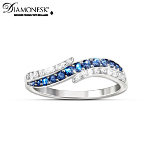 """Tranquil Reflections"" Sterling Silver Diamonesk Ring"