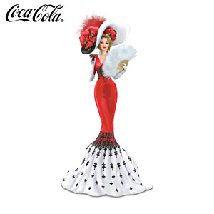Coca-Cola Victorian Woman Figurine With Symbolic Fan