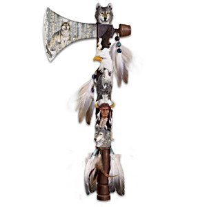 """Season Of The Wolf"" Tomahawk Wall Decor With Al Agnew Art"