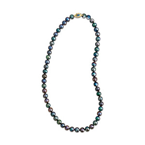 """Peacock Passion"" Freshwater Cultured Pearl Necklace"