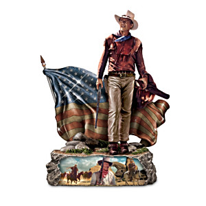 Patriotic Sculpture Honors American Hero John Wayne