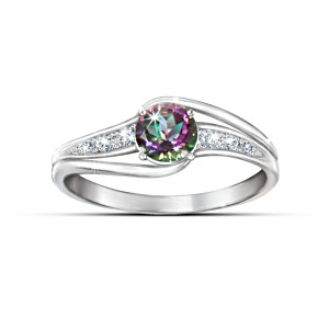 """Mystic Enchantment"" Multi-Coloured Topaz Ring"