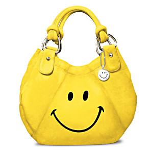 """Smile"" Fashion Handbag With Smile Face Charm"