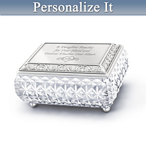 Personalized Crystal Music Box For Daughters
