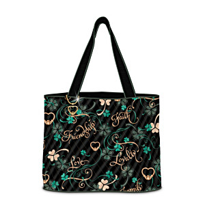 """Irish Charm"" Quilted Tote Bag With FREE Cosmetic Case"