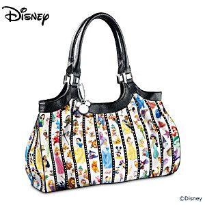"""Forever Disney"" Shoulder Bag With Inspiring Embossed Plaque"