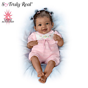 """Taylor's Ticklish Tootsies"" Touch-Activated Baby Girl Doll"