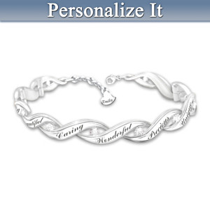Personalized Diamond Bracelet For Granddaughters