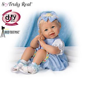 "Bonnie Chyle ""Madison"" Poseable Lifelike Baby Girl Doll"