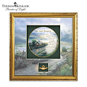 Thomas Kinkade Irish Blessing Shadowbox