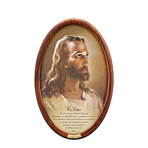 "Warner Sallman ""The Lord's Prayer"" Framed Collector Plate"