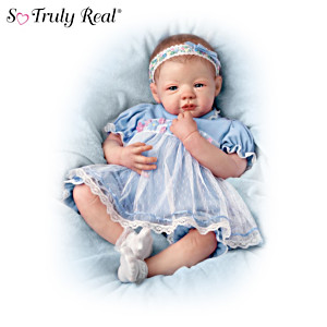 Lifelike Teary-Eyed Poseable Baby Doll By Marissa May