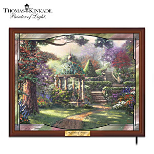 "Thomas Kinkade ""Gazebo Of Prayer"" Stained-Glass Wall Decor"