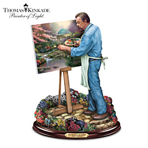 Thomas Kinkade Painter Of Light Sculpture With Art Print