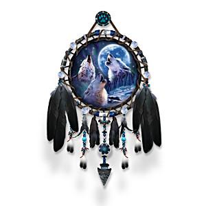 """Robin Koni """"Wolf Songs"""" Glow-In-The-Dark Dreamcatcher"""